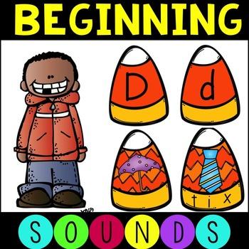 Candy Corn Alphabet and Beginning Sounds