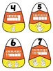 Candy Corn Alphabet and Number Puzzles