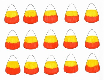 Candy Corn Alphabet and Numbers