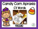 Candy Corn Apraxia Freebie: CV Words for Speech Therapy