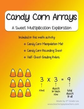 Candy Corn Arrays - Multiplication and Repeated Addition