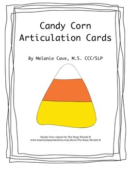 Candy Corn Articulation Cards
