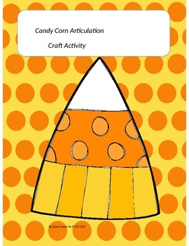 Candy Corn Articulation Craft Activity