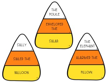 Candy Corn Articulation Silly Sentences for /L/ and /L/-Blends