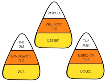 Candy Corn Articulation Silly Sentences for /R/ and /R/-Blends