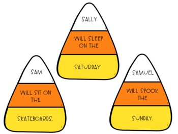 Candy Corn Articulation Silly Sentences for /S/ and /S/-Blends