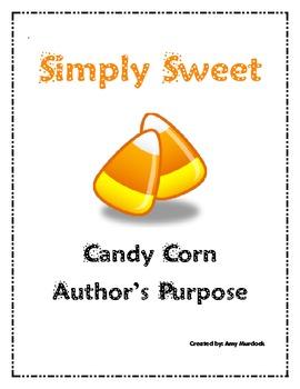 Candy Corn Author's Purpose Writing Craft
