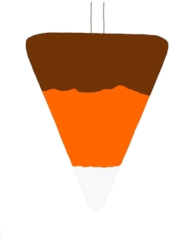 Candy Corn Banner Bunting Autumn Fall Halloween Flag Brown Orange White