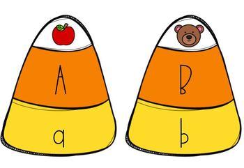 Candy Corn Beginning Sound Alphabet Match