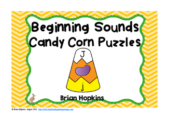 Candy Corn Beginning Sounds Puzzles