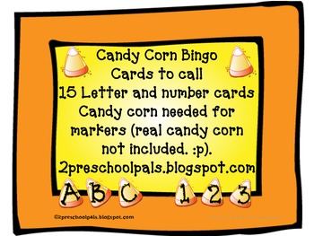 Halloween/ Fall / Candy Corn Bingo