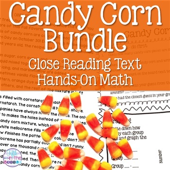 Candy Corn Bundle - Reading Comprehension Passage and Hands-On Math