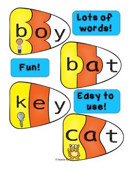 Candy Corn CVC Puzzles - 80 Fun Puzzles for Practicing CVC Words!