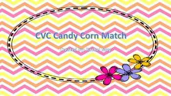 Candy Corn CVC Word Match