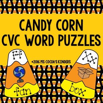 Halloween CVC Word Puzzles