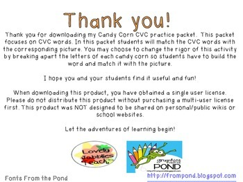 Candy Corn CVC practice
