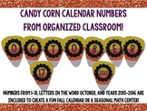 Candy Corn Calendar Numbers