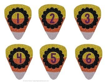 Candy Corn Calendar Numbers