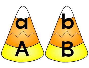 Candy Corn Capital & Lowercase Alphabet Match
