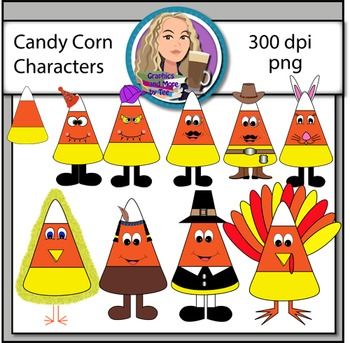 Candy Corn Character Clipart