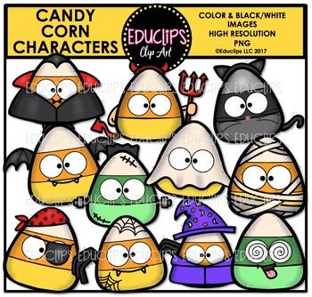 Candy Corn Characters Clip Art Bundle {Educlips Clipart}