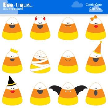 Candy Corn Clip Art. Candy Corn Vectors. Halloween Clip Ar