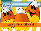 Candy Corn Clip Art- Color and Line Art 6pc set