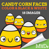 Candy Corn Halloween Clipart - Facial Expressions & Emotions