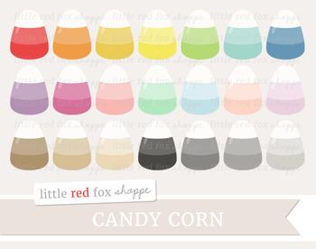 Candy Corn Clipart; Halloween, Treat, Dessert
