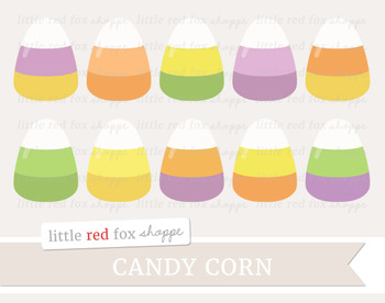 Candy Corn Clipart; Halloween, Treat, Dessert