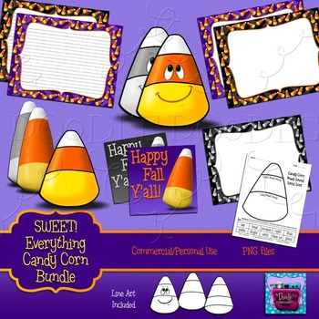 Candy Corn Clipart and Digital Papers