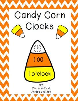 Candy Corn Clocks