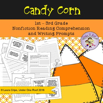 Candy Corn Close Reading and Creative Writing for Primary Grades