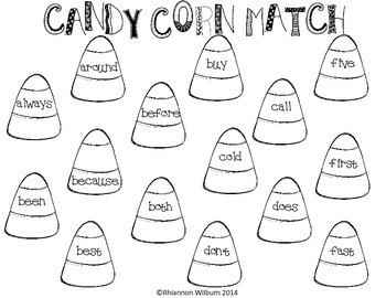 Candy Corn Match (2nd Grade Dolch)