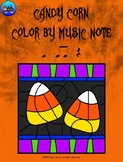 Candy Corn Color By Music Note Rhythm Coloring - Quarter Note/Rest, Eighth Notes