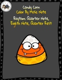 Candy Corn Color By Music Note Rhythm Coloring Freebie