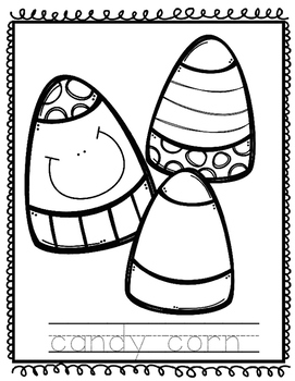 Candy Corn Coloring Sheet Freebie