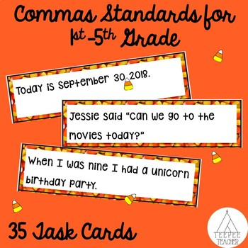Candy Corn Commas