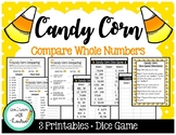 Candy Corn Compare Numbers (Printables + Dice Game)
