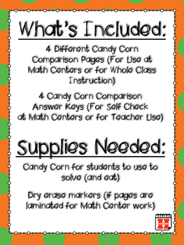 Candy Corn Comparisons (Comparing Fractions)