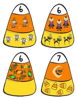 Candy Corn Compose & Decompose or Number Match