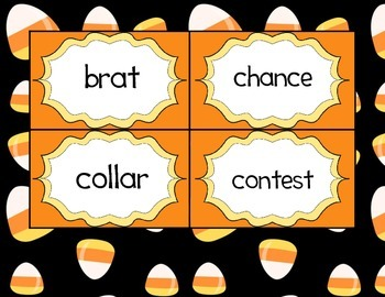 The Candy Corn Contest Vocabulary Cards