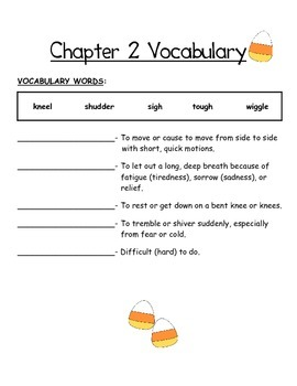 The Candy Corn Contest Vocabulary Notebook
