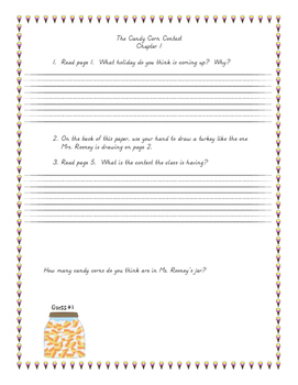 Candy Corn Contest book packet