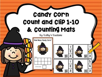 Candy Corn Count And Clip 1-10 & Counting Mats