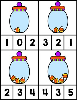 Candy Corn Count & Clip (Numbers 1-10)