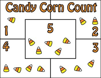 Candy Corn Count Mats