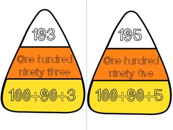 Candy Corn Counting- A Halloween themed math matching game