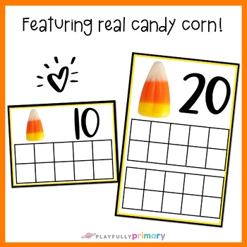 Candy Corn Counting Frames 0-20   Mini Eraser Math Center