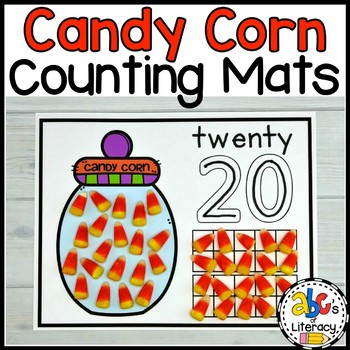 Candy Corn Counting Mats #1-20